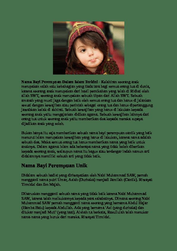 Nama Bayi Perempuan R : perempuan, Wanita, Islami, Research, Papers, Academia.edu