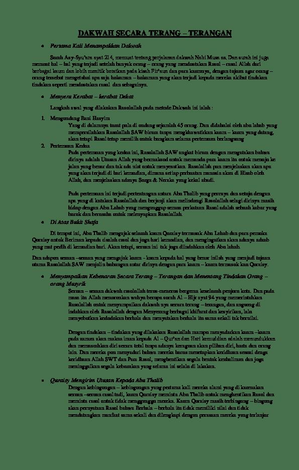 Dakwah Nabi Muhammad Secara Terang Terangan : dakwah, muhammad, secara, terang, terangan, DAKWAH, SECARA, TERANG, TERANGAN, Salma, Khairunnisa, Academia.edu