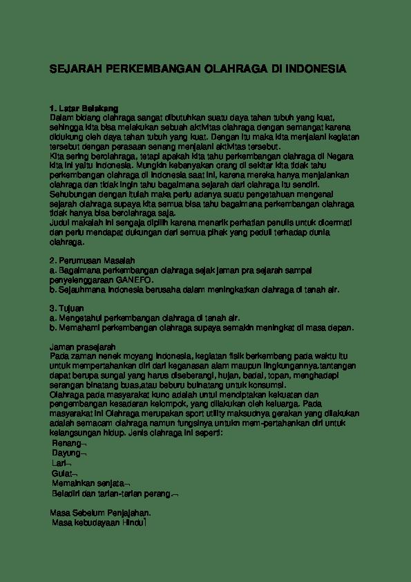 Sejarah FORMI - FORMI - FORMI - Federasi Olahraga