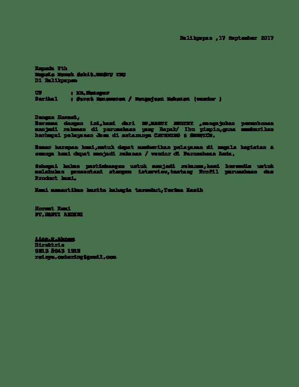 Surat Permohonan Rekanan : surat, permohonan, rekanan, Surat, Rekanan, Fadlan, Rivai, Academia.edu