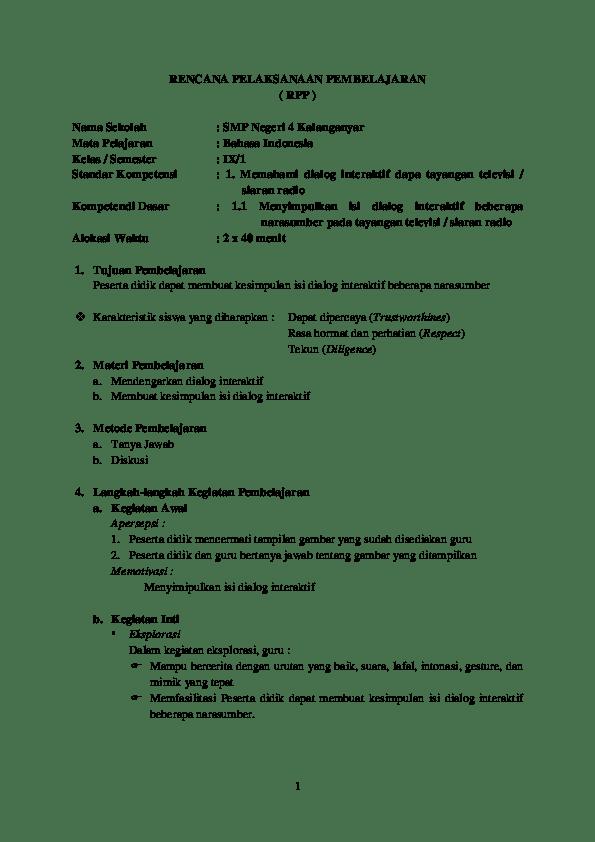 Rpp Bahasa Indonesia Smp Kurikulum 2013 : bahasa, indonesia, kurikulum, Bahasa, Indonesia, Kurikulum, Research, Papers, Academia.edu