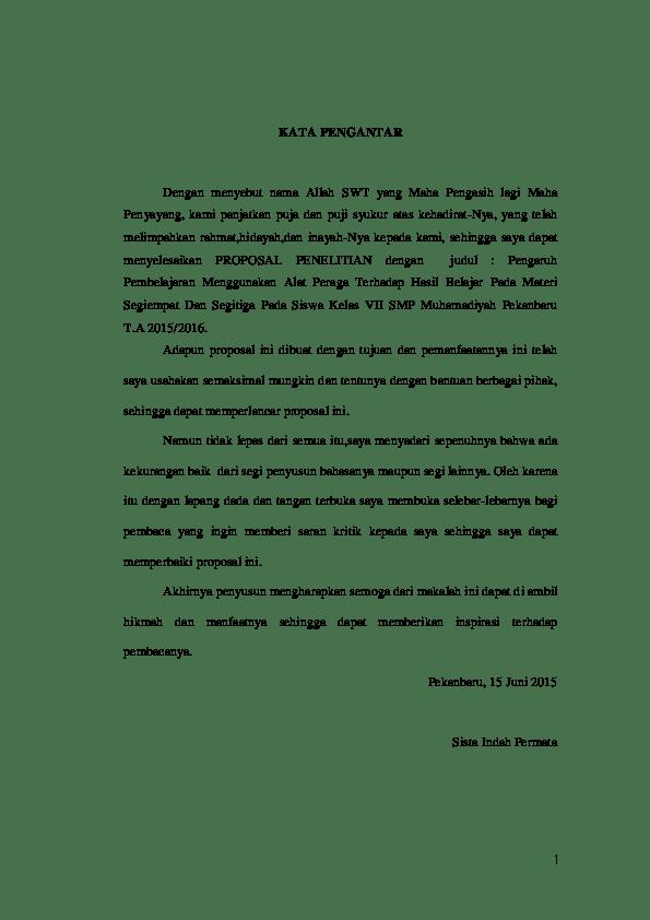 Contoh Kata Pengantar Proposal, Laporan, Skripsi dan Karya
