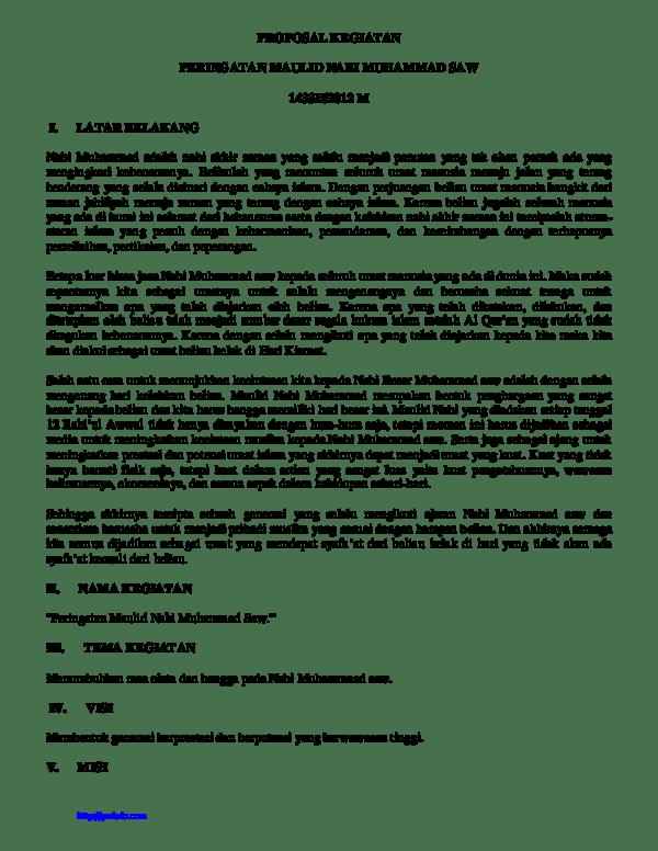 Contoh Proposal Maulid Nabi Saw Pdf : contoh, proposal, maulid, Download, Contoh, Proposal, Maulid, Muhammad, Nizar, Zulmi, Musyafa, Academia.edu