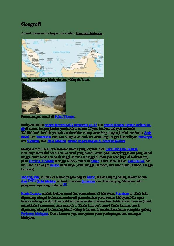 Puncak Tertinggi Di Malaysia Adalah : puncak, tertinggi, malaysia, adalah, Geografi, Artikel, Utama, Untuk, Bagian, Adalah:, Malaysia, Desak, Komang, Academia.edu