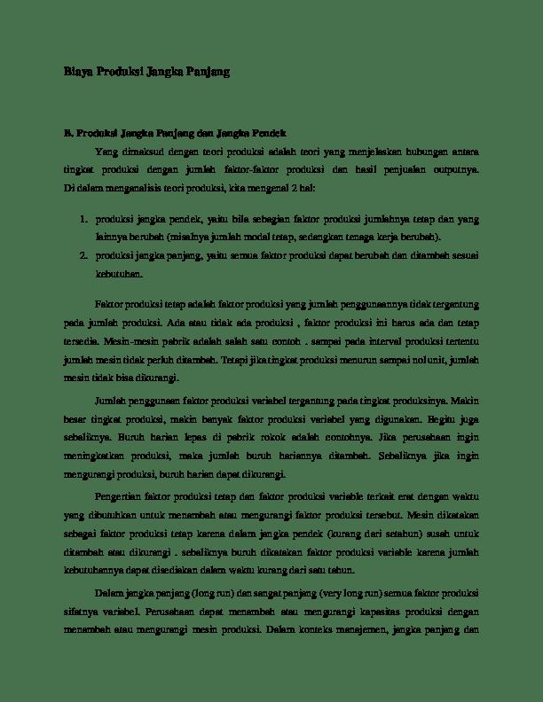 Biaya Produksi Jangka Pendek : biaya, produksi, jangka, pendek, Biaya, Produksi, Jangka, Panjang, Abrur, Afriyandi, Academia.edu