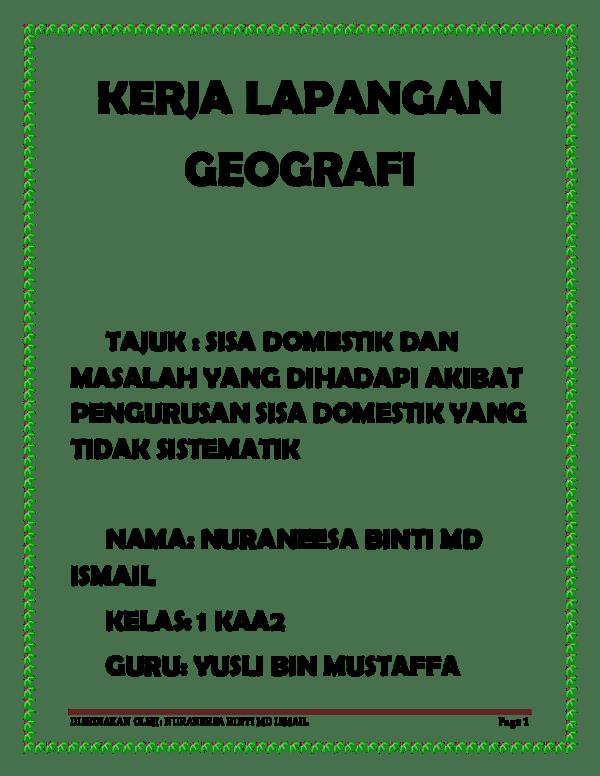 Contoh Kerja Kursus Geografi 2011 1