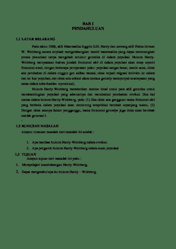 Hukum Hardy Weinberg : hukum, hardy, weinberg, Hukum, Hardy-Weinberg, Humira, Safana, Academia.edu