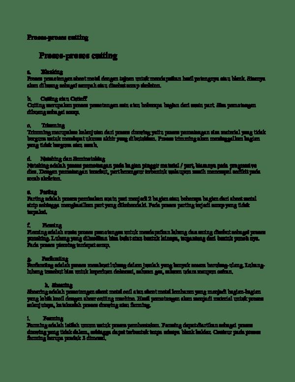 Proses Memotong Sebagian Dari Image Menggunakan : proses, memotong, sebagian, image, menggunakan, Proses-proses, Cutting, Academia.edu