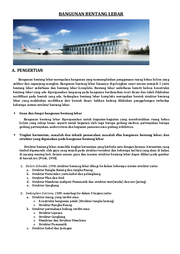 Contoh Bangunan Bentang Lebar Di Dunia : contoh, bangunan, bentang, lebar, dunia, TUGAS, GAMTEK, STRUKTUR, BENTANG, LEBAR, Muhammad, Farhan, Academia.edu