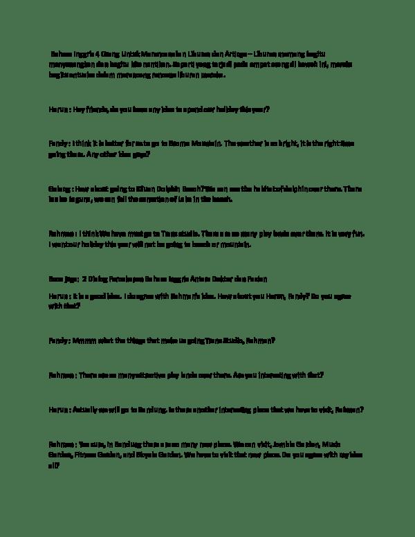 Dialog Bahasa Inggris Tentang Liburan : dialog, bahasa, inggris, tentang, liburan, Contoh, Dialog, Singkat, Bahasa, Inggris, Tentang, Rencana, Liburan, Temukan