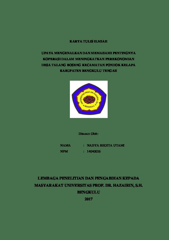 Judul Karya Tulis : judul, karya, tulis, Contoh, Karya, Tulis, Ilmiah, Tentang, Ekonomi, Bisnis, Barisan, Cute766