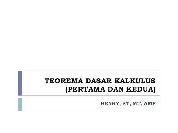 Sifat penambahan interval pada integral tentu : Ppt Materi Kuliah Minggu 11 Teorema Dasar Kalkulus Yuswahyuni Helmi Academia Edu