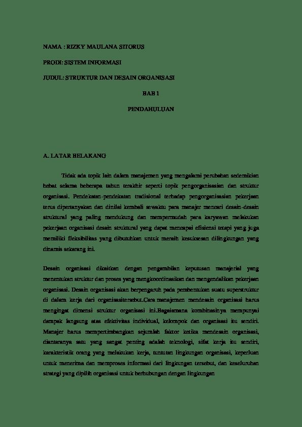 Desain Organisasi Pdf : desain, organisasi, STRUKTUR, DESAIN, ORGANISASI, Rizky, Maulana, Sitorus, Academia.edu