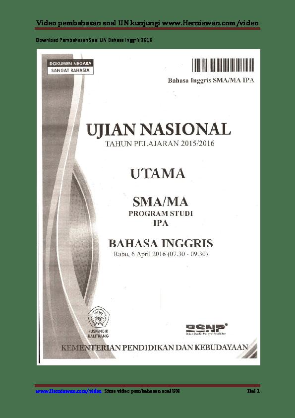 Soal Un Bahasa Inggris Sma Dan Kunci Jawaban 2015 : bahasa, inggris, kunci, jawaban, Kunci, Jawaban, Bahasa, Inggris, IlmuSosial.id