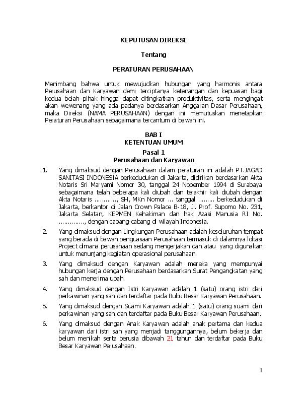 Contoh Peraturan Perusahaan Doc : contoh, peraturan, perusahaan, Peraturan, Perusahaan, Cute766