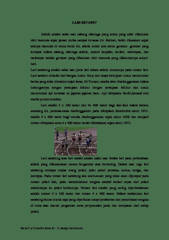 Materi Lari Estafet : materi, estafet, Sejarah, Estafet, Kelas, Farellio, Fikri, Academia.edu