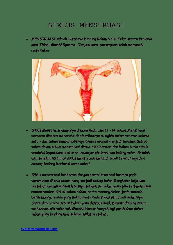 Proses Terjadi Nya Menstruasi : proses, terjadi, menstruasi, Siklus, Menstruasi, Martyas, Ningrum, Academia.edu