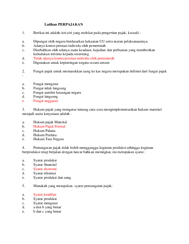 Berikut Merupakan Fungsi Pajak Kecuali : berikut, merupakan, fungsi, pajak, kecuali, Latihan, Perpajakan, BSI.docx, Julmarice, Situmorang, Academia.edu