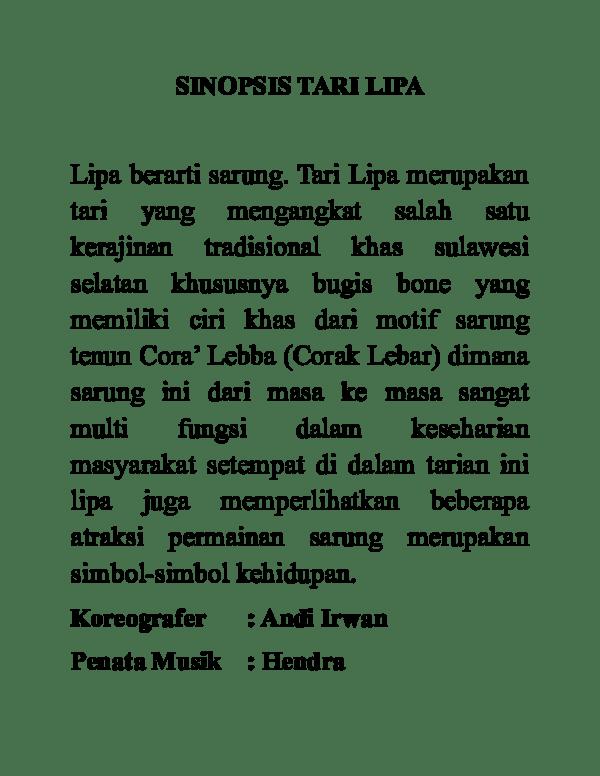 Contoh Tema Tari : contoh, SINOPSIS, SAORAJA, Academia.edu