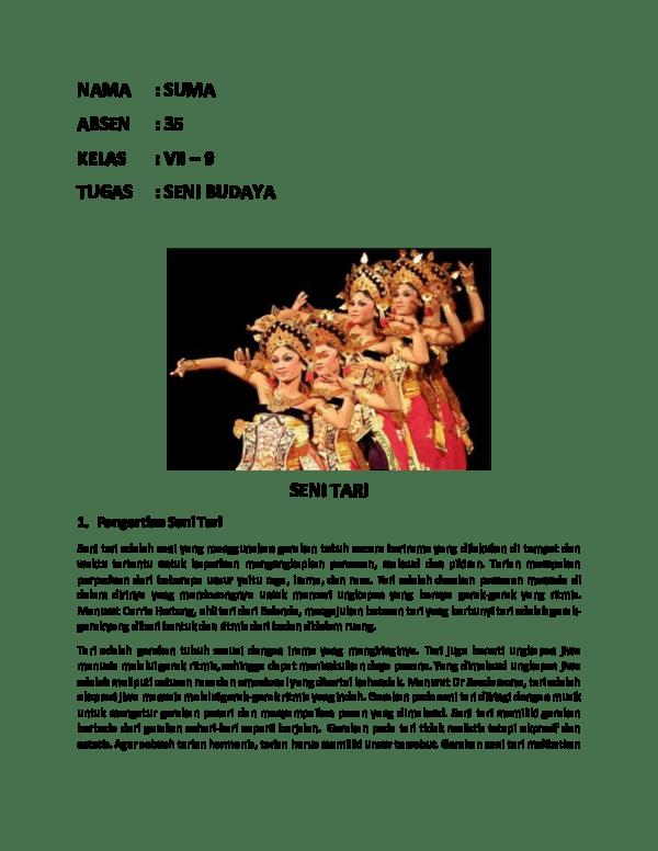 Unsur Seni Tari : unsur, TUGAS, BUDAYA, Andania, Adriana, Academia.edu