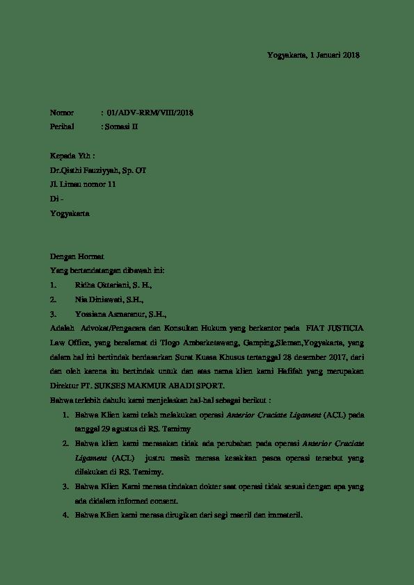 Contoh Surat Somasi Wanprestasi : contoh, surat, somasi, wanprestasi, Contoh, Surat, Somasi, Gudang