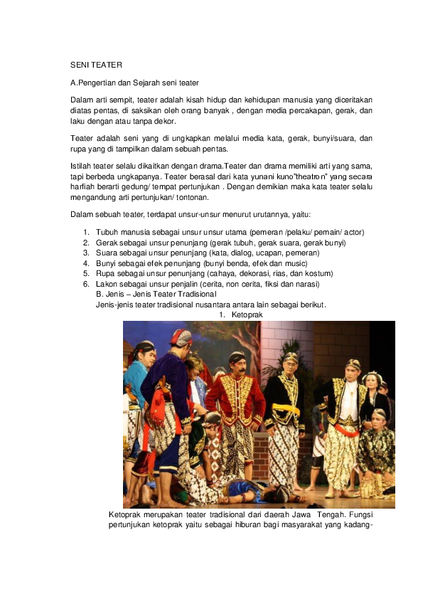 Sejarah Teater Tradisional : sejarah, teater, tradisional, TEATER, Silvia, Academia.edu