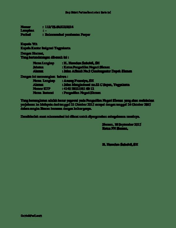 Contoh Surat Rekomendasi Pembuatan Paspor : contoh, surat, rekomendasi, pembuatan, paspor, Contoh, Surat, Rekomendasi, Pembuatan, Paspor, Hangga, Academia.edu