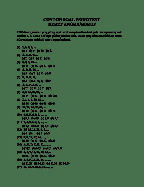 Tes Deret Angka : deret, angka, Contoh, Materi, Pelajaran, Psikotes, Deret, Angka, Jawabannya