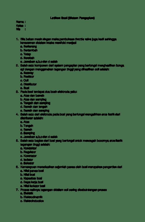 Proses Naiknya Tegangan Didalam Coil Sering Disebut Dengan Proses : proses, naiknya, tegangan, didalam, sering, disebut, dengan, Latihan, (Sistem, Pengapian, Congol, Academia.edu