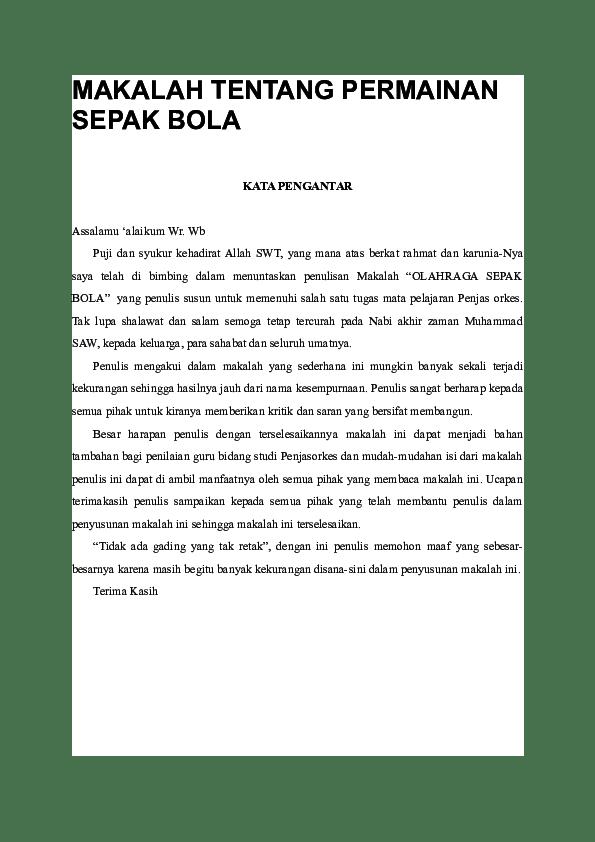 Rangkuman Materi Sepak Bola : rangkuman, materi, sepak, MAKALAH, TENTANG, PERMAINAN, SEPAK, Andesum, Academia.edu