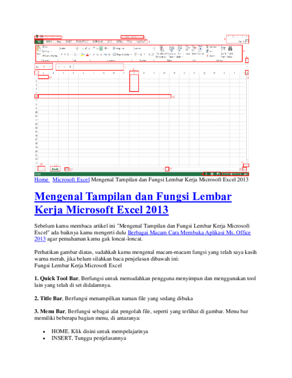 Bagian-bagian Microsoft Excel : bagian-bagian, microsoft, excel, Jelaskan, Bagian, Terdapat, Lembar, Kerja, Excel, Kumpulan, Kerjaan