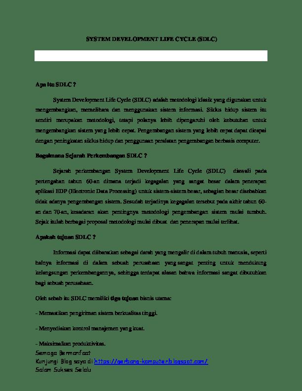 Pengertian Sdlc Dan Tahapannya : pengertian, tahapannya, PENGERTIAN, TAHAPANNYA, Rahmat, Hidayatullah, Academia.edu