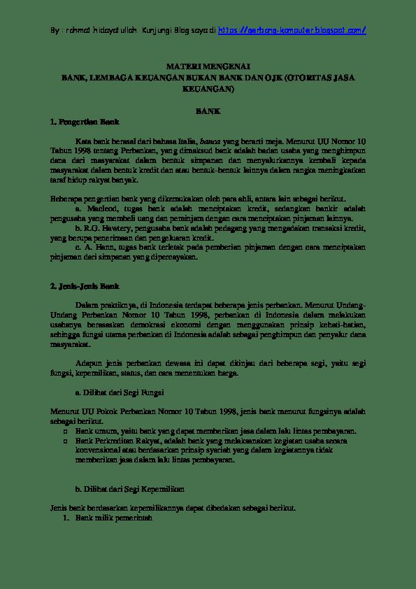 Pengertian Bank Menurut Uu No 10 Tahun 1998 : pengertian, menurut, tahun, Pengertian, Menurut, Undang, Nomor, Tahun, Seputar