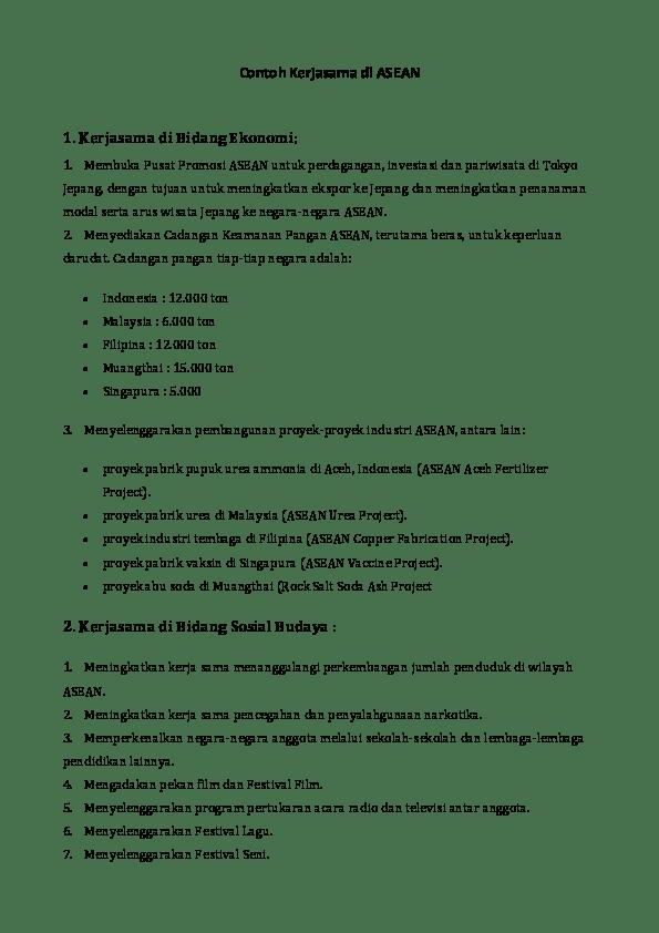 Bentuk Kerjasama Asean Dalam Bidang Pendidikan : bentuk, kerjasama, asean, dalam, bidang, pendidikan, Bentuk, Kerja, Asean, Dalam, Bidang, Sosial, Budaya, Seputar, Kerjaan