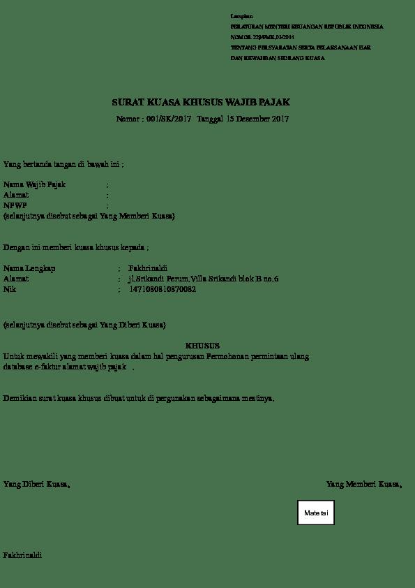 Pmk 229/pmk.03/2014 Pdf : 229/pmk.03/2014, Kuasa, Indah, Academia.edu