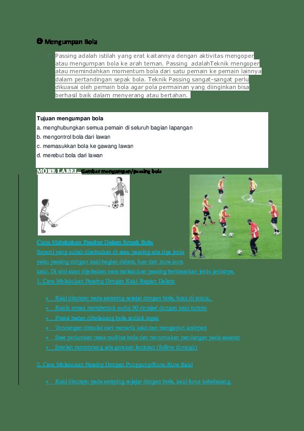 Cara Merebut Bola Dari Lawan : merebut, lawan, Mengumpan, Riska, Ramayanti, Academia.edu