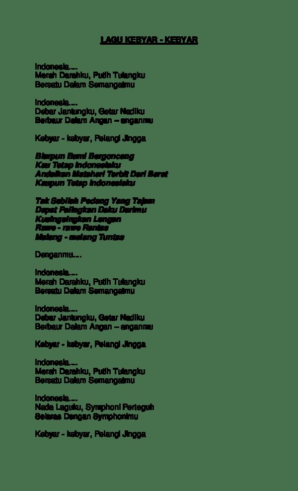 Lagu Indonesia Merah Darahku Putih Tulangku : indonesia, merah, darahku, putih, tulangku, Lirik, Merah, Darahku, Putih, Tulangku, Bersatu, Dalam, Semangatku, Belajar