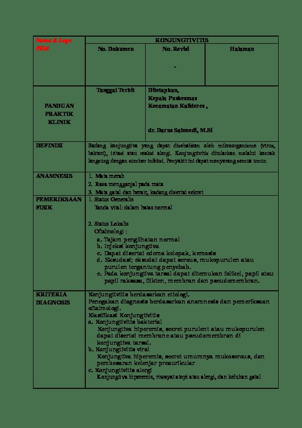 Konjungtivitis Bakteri Pdf : konjungtivitis, bakteri, Panduan, Konjungtivitis.doc, Mutiara, Citra, Academia.edu
