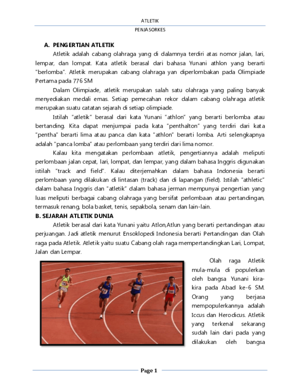 Sejarah Lari Jarak Pendek : sejarah, jarak, pendek, Makalah, Jarak, Pendek, Jalan, Cepat, Contoh