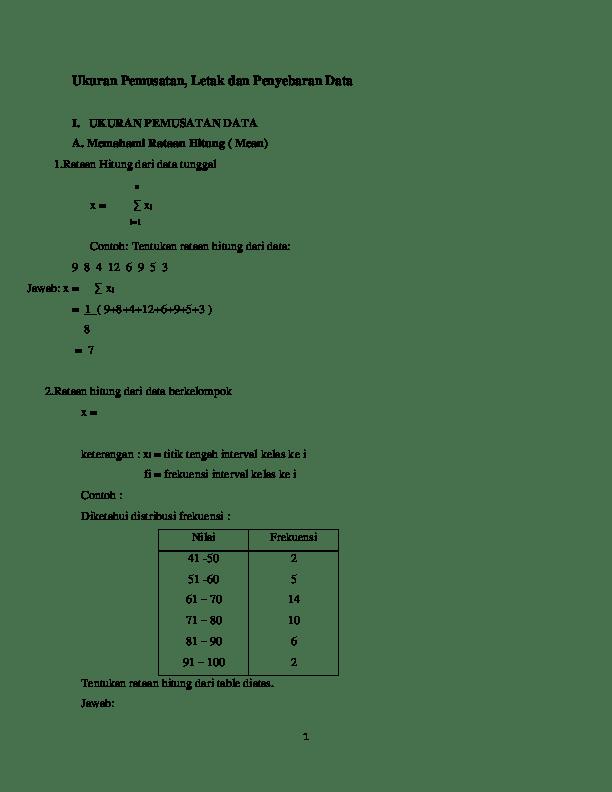 Contoh Soal Ukuran Pemusatan Data : contoh, ukuran, pemusatan, Contoh, Jawaban, Ukuran, Pemusatan, Penyebaran, IlmuSosial.id