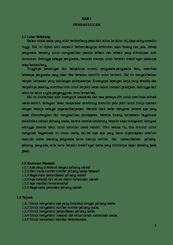 Sumber Peluang Usaha : sumber, peluang, usaha, Peluang, Usaha, Kharisma, Mahasari, Academia.edu