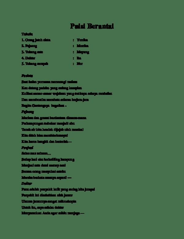 Puisi Berantai Lucu : puisi, berantai, Puisi, Berantai, Orang, Berbagai, Penting
