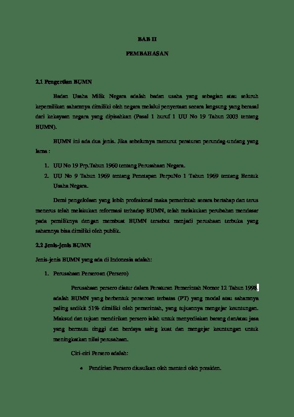 Ciri-ciri Bumn Persero : ciri-ciri, persero, Sebutkan, Berbentuk, Persero
