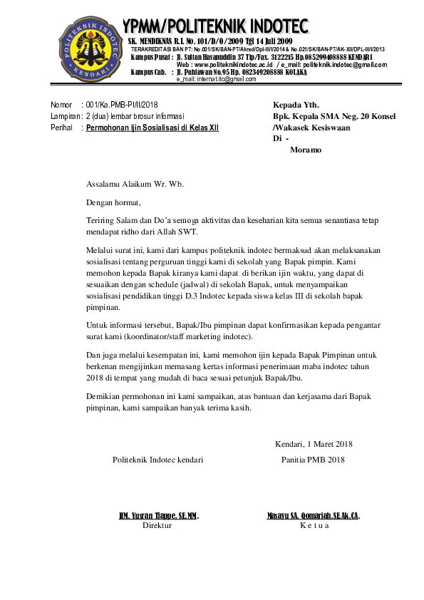 Surat Permohonan Sosialisasi : surat, permohonan, sosialisasi, Contoh, Surat, Permohonan, Sosialisasi, Sekolah, Cute766