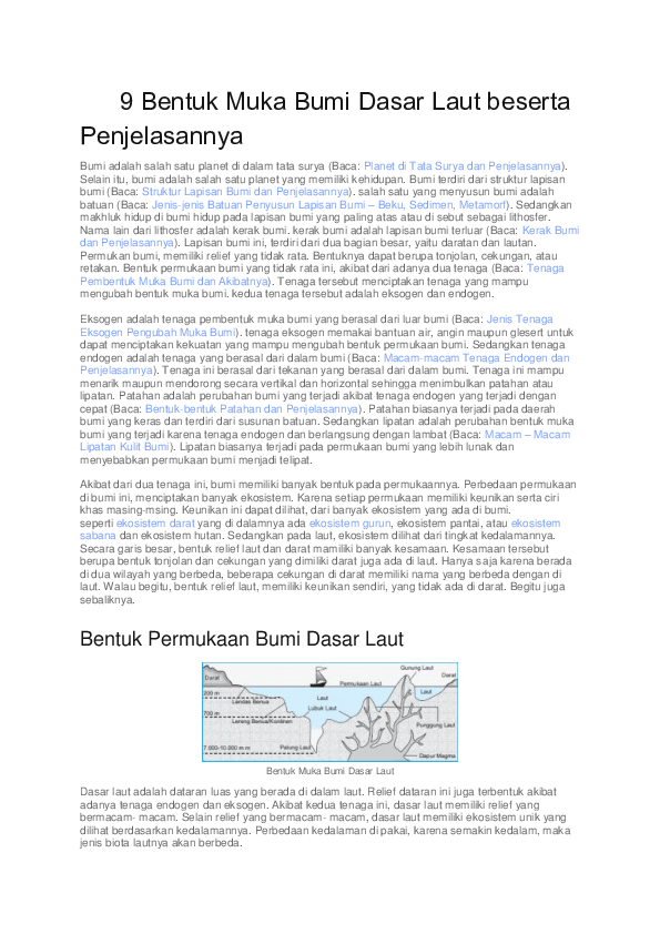 Relief Dasar Laut Dan Penjelasannya : relief, dasar, penjelasannya, Bentuk, Dasar, Beserta, Penjelasannya, Irpan, Nasrulloh, Academia.edu