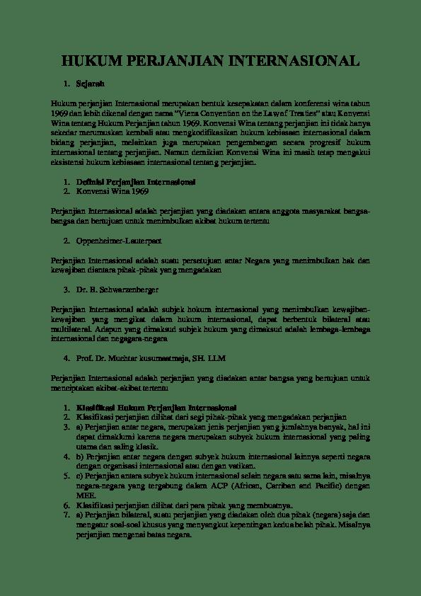 Klasifikasi Perjanjian Internasional : klasifikasi, perjanjian, internasional, HUKUM, PERJANJIAN, INTERNASIONAL, Nuzul, Al-Qori, Academia.edu