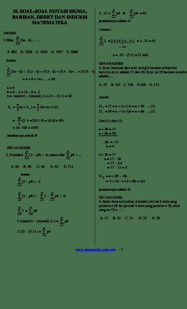 Contoh Soal Induksi Matematika Habis Dibagi - Contoh Soal Terbaru