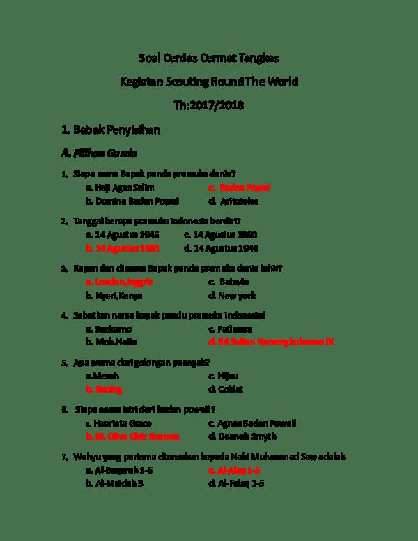 Contoh Soal Pilihan Ganda Tentang Proposal Beserta Jawaban