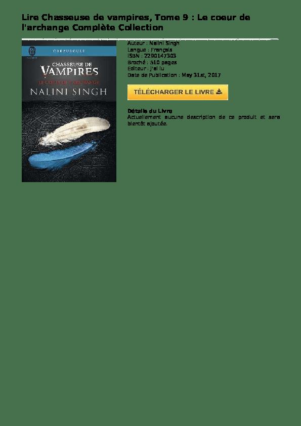 (PDF) Chasseuse de vampires tome 9 le coeur de larchange