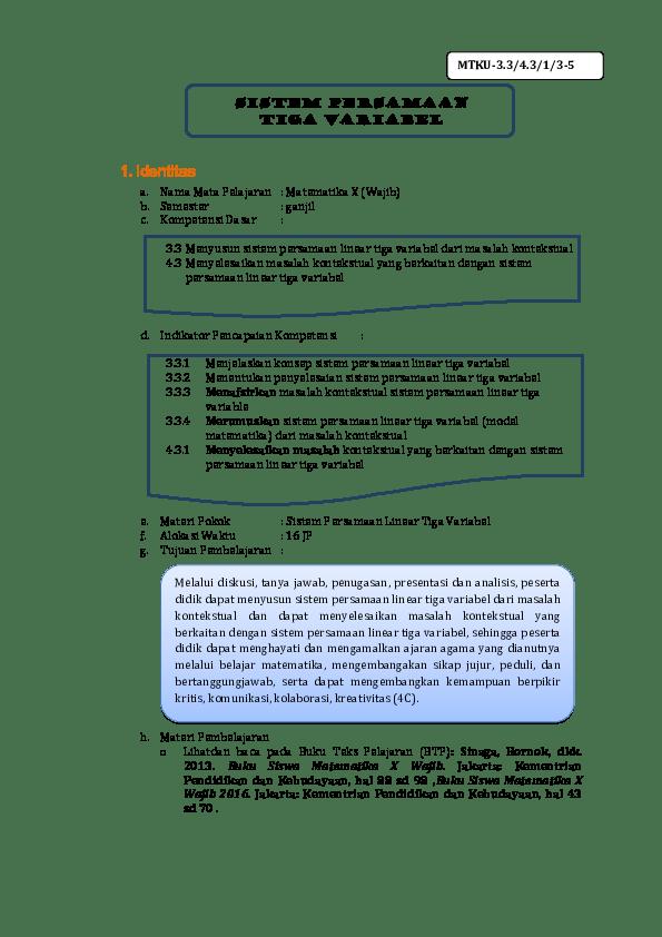 25/07/2021· contoh soal matematika kelas 10 wajib tahun uas/pas 2020/2021 semester 1 & 2 beserta kunci jawabannya/cara pembahasanya kurikulum 2013 nilai mutlak, trigonometri Contoh Pembahasan Soal Dan Jawaban Spltv Mtk Wajib - Kanal